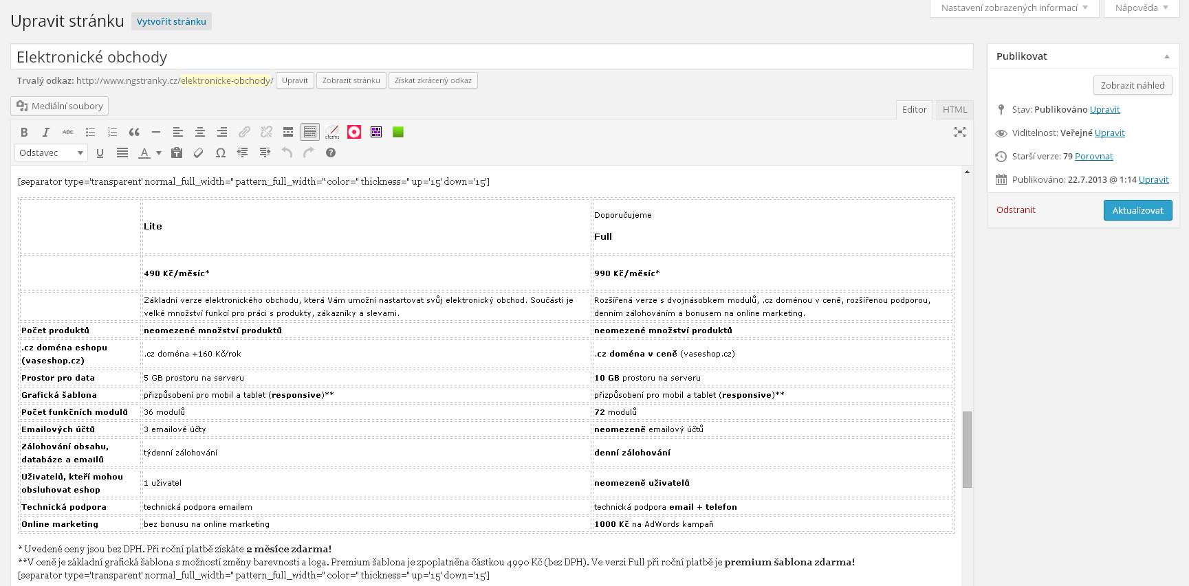 Tvorba webových stránek Liberec a okolí. Ceník a ceny jsou orientační. c9130dc8033