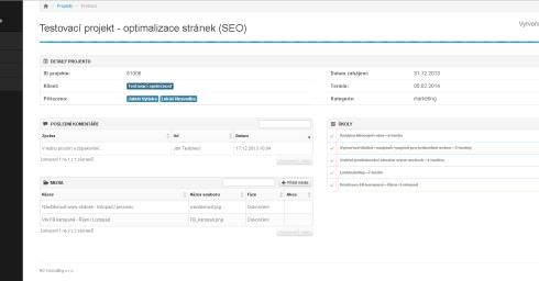 Klientský systém - detaily projektu