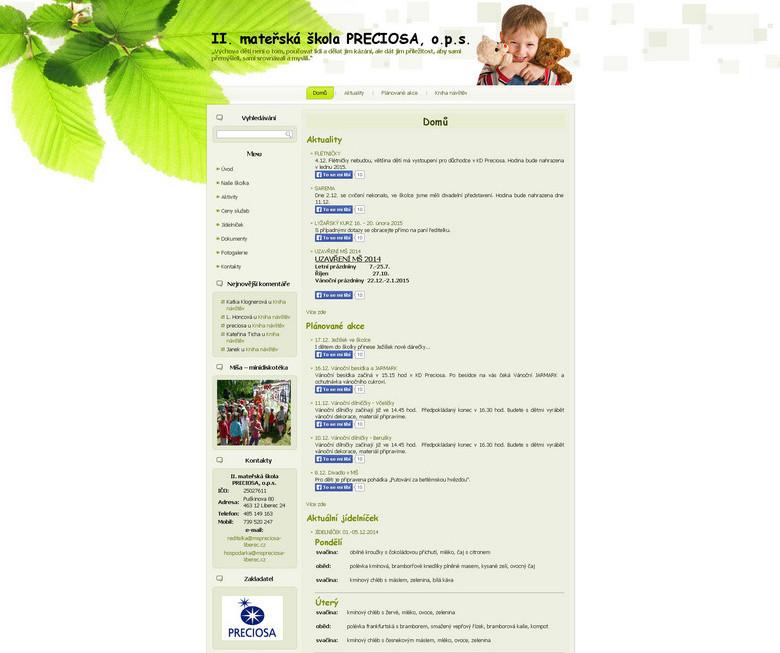 mateřská škola PRECIOSA o.p.s.