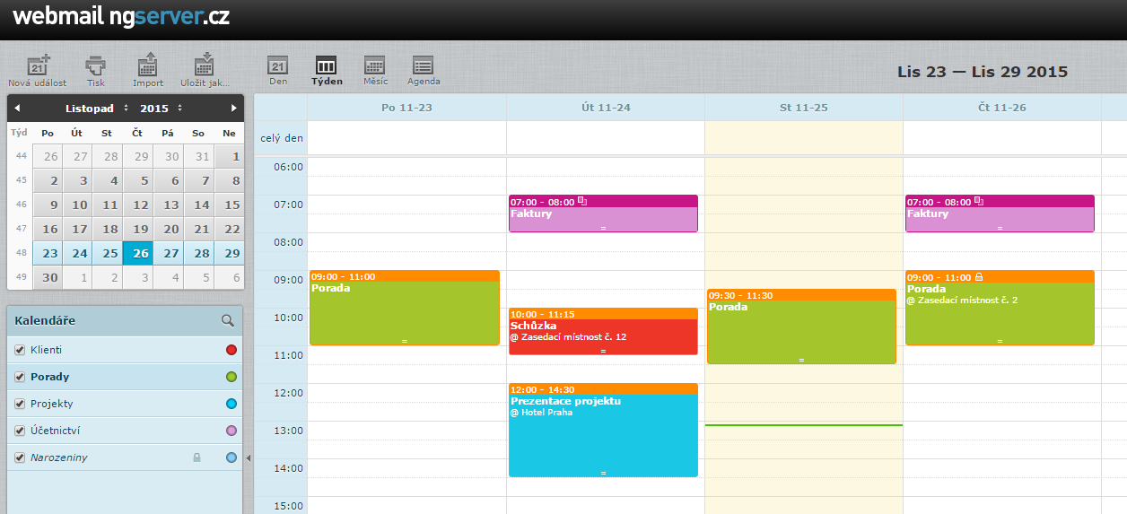 mail server kalendar2